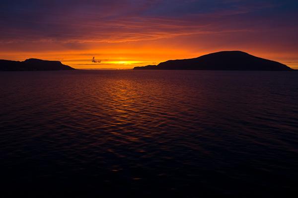 Abendlicht über dem Nordmeer