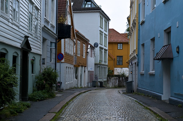 Alte Gasse in Bergen