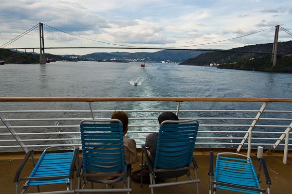 Blick zurück nach Bergen