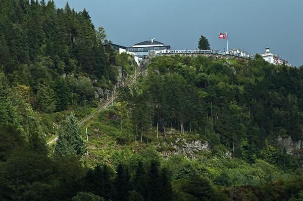 Aussichtspunkt Fløyen in Bergen