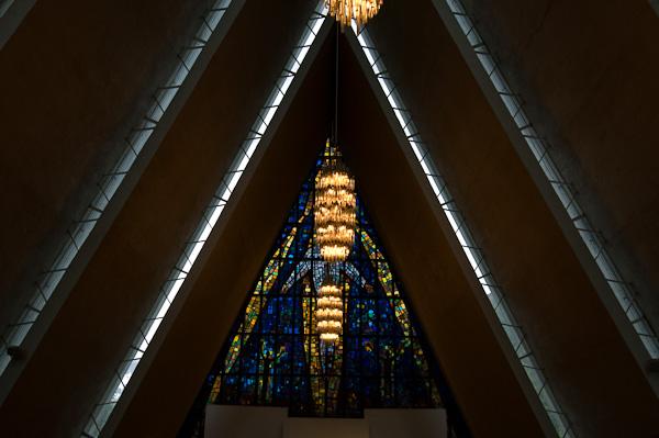 Eismeer-Kathedrale in Tromsø von Innen