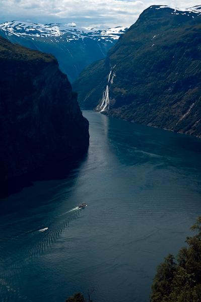 """Geirangerfjord und Wasserfall """"Die sieben Schwestern"""""""