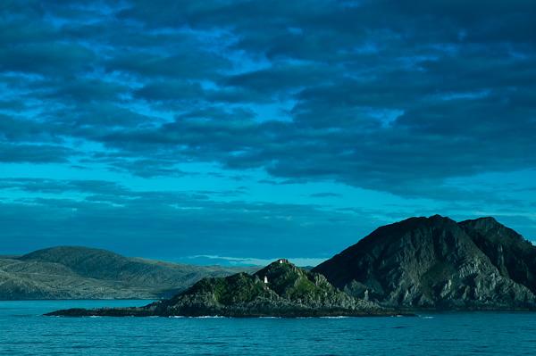 Küste an der norwegischen Beringsee