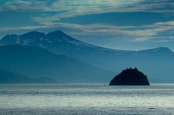 Kleine Insel im Langfjord