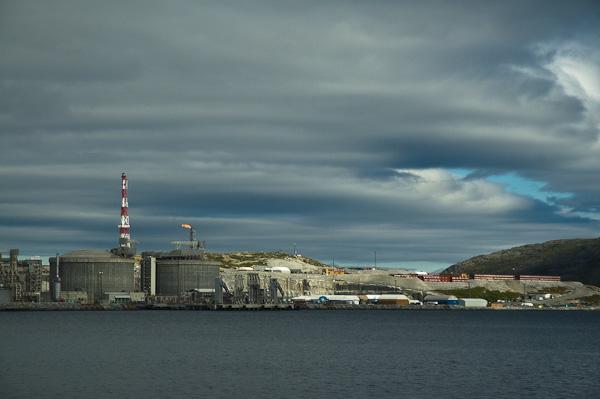 Insel Melkøya vor Hammerfest