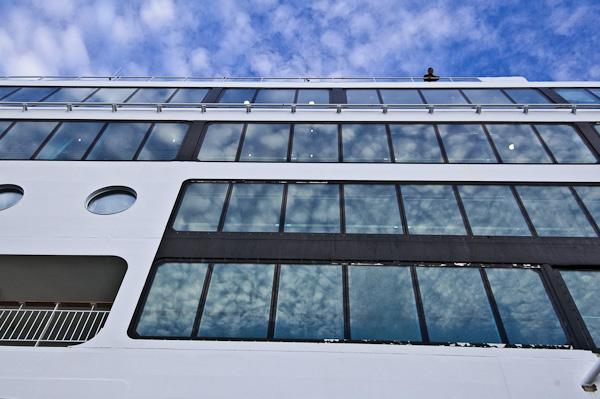 Fenster der MS-Trollfjord