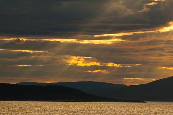 Lichtstimmung bei Skjervøy