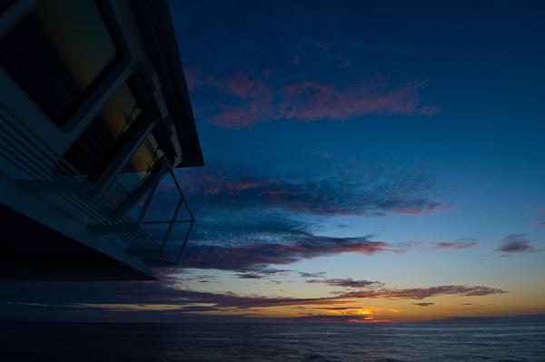 Sonnenuntergang im Nordmeer