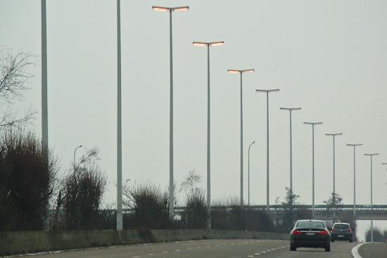 Beleuchtung Autobahn in Belgien