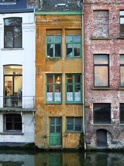 Ein schmales Haus in Gent