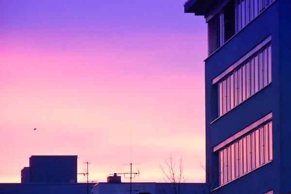 Bürogebäude im Morgenlicht