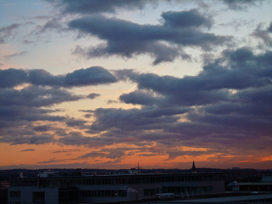 Industriegebiet im Morgenlicht
