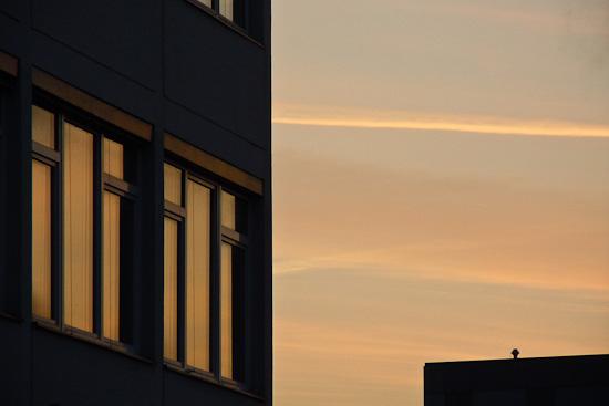Spiegelung Morgenlicht