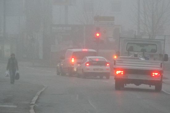 Bremsleuchten im Nebel