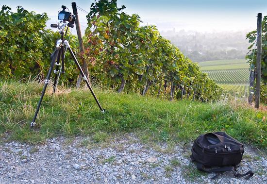 Fotoausrüstung am Weinberg