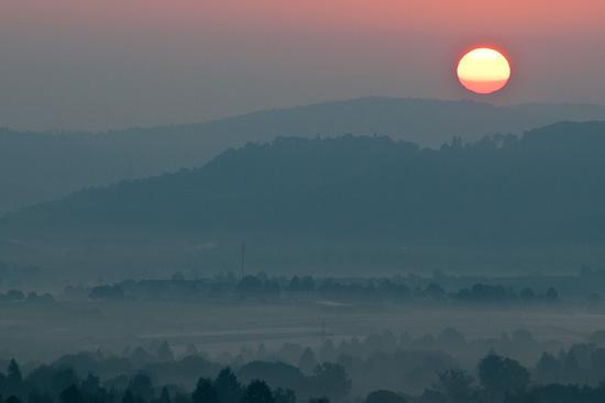 Sonnenaufgang über dem Remstal