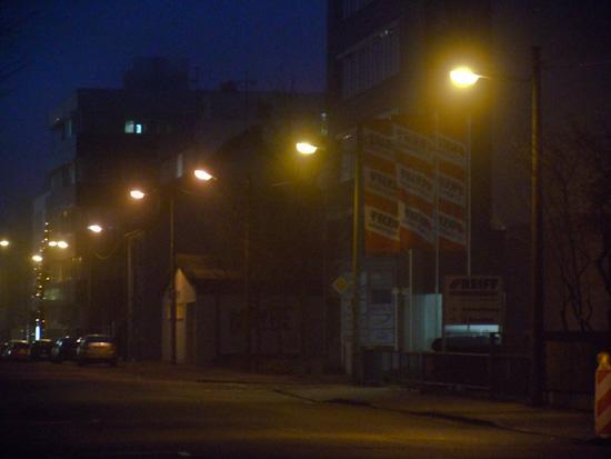 Industriegebiet im Nebel
