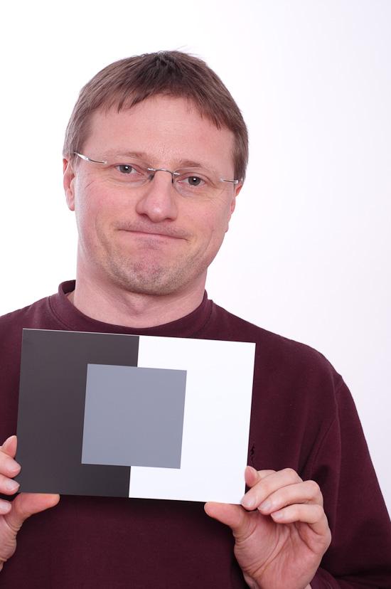Selbstportrait mit Graukarte