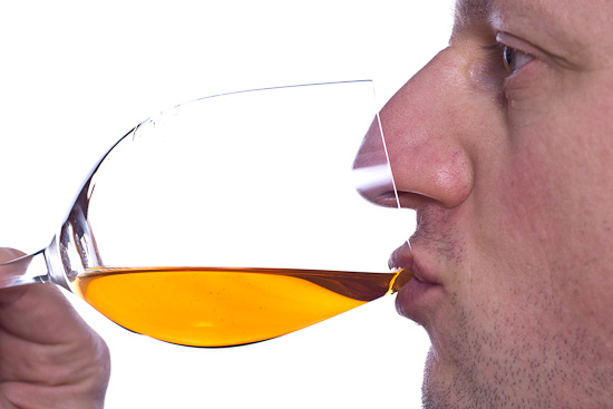 Ein Glas Desertwein