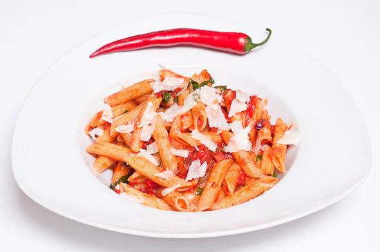 Penne rigatoni all'arrabiata