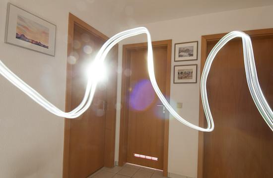 Lichtspur mit Dauerlicht