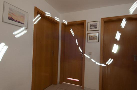 Lichtspur mit Blink-Intervall