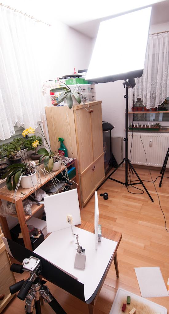 Lichtaufbau im Studio