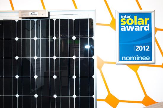 Razor - nominiert für den solar award 2012 auf der Intersolar