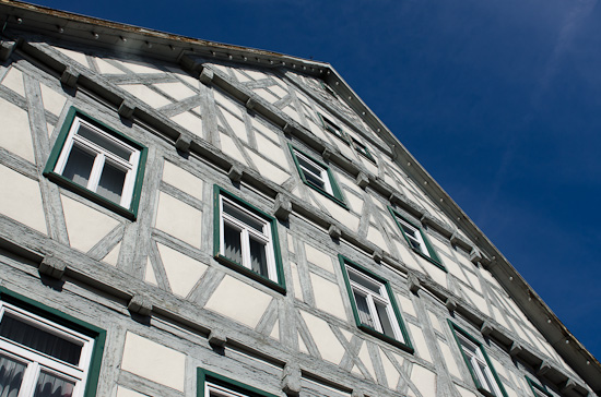 Hausfassade mit Polfilter