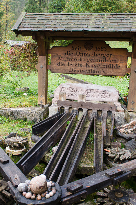 Kugelmühle bei der Almbachklamm