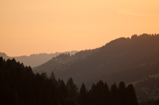 Abendlicht im Tannheimer Tal