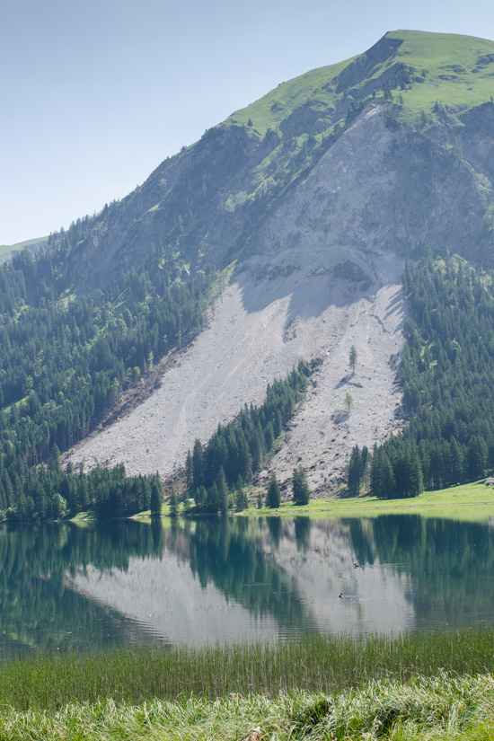 Bergrutsch am Vilsalpsee