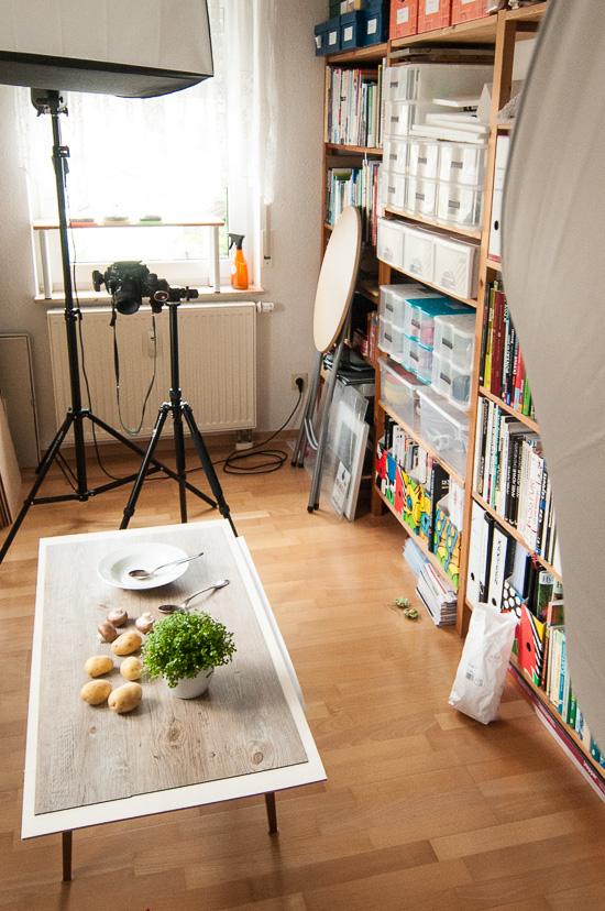 Set- und Lichtaufbau beim Foodshooting