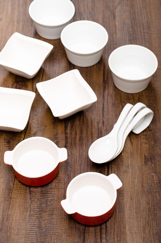 Schalen für die Foodfotografie