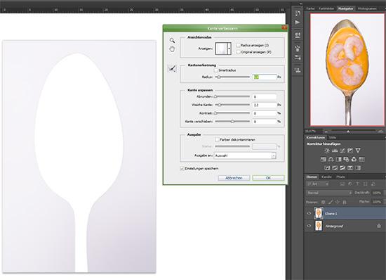 Step 2 beim Freistellen eines Objektes in Photoshop CS6