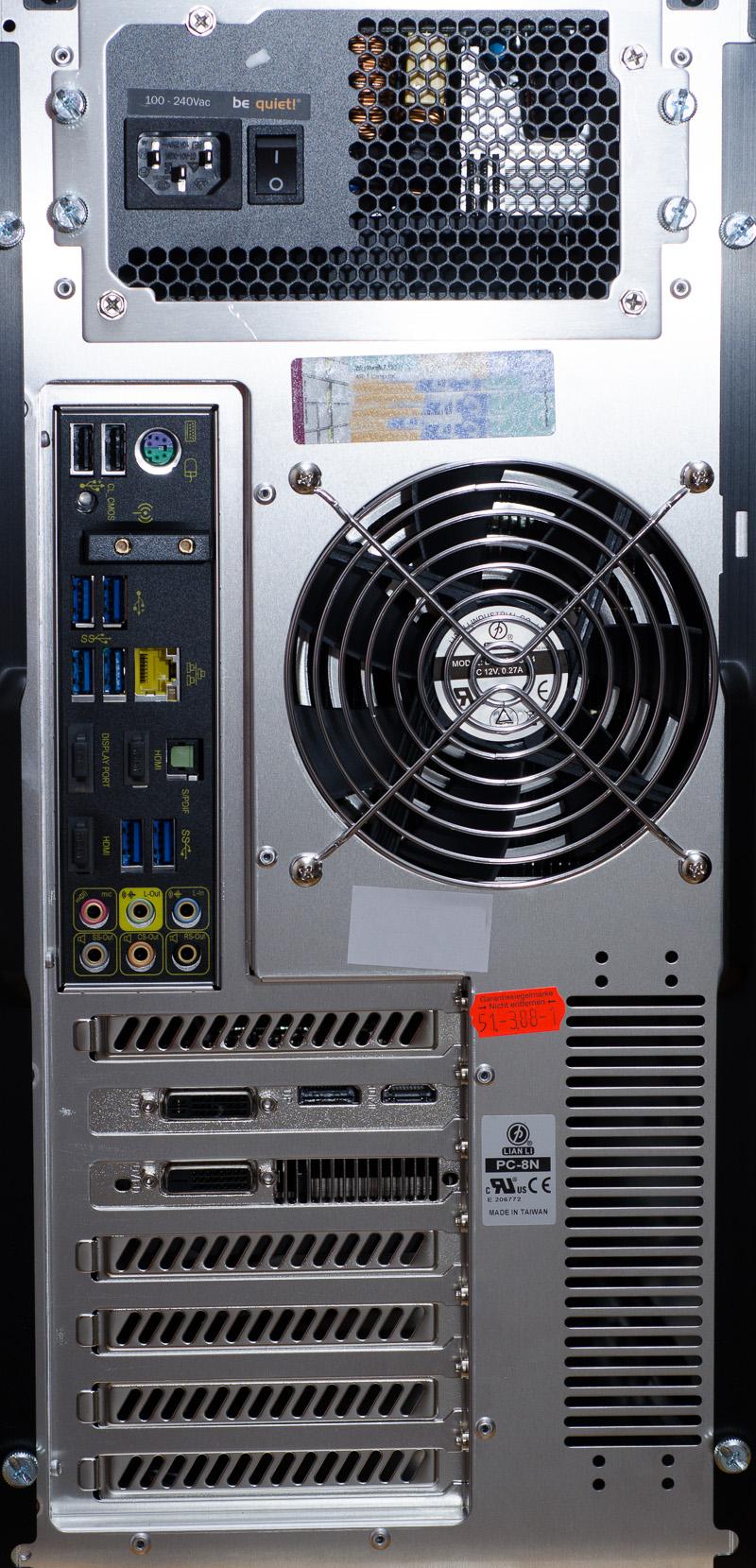 Neuer Computer von hinten
