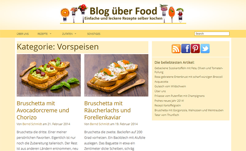 Blog über Food