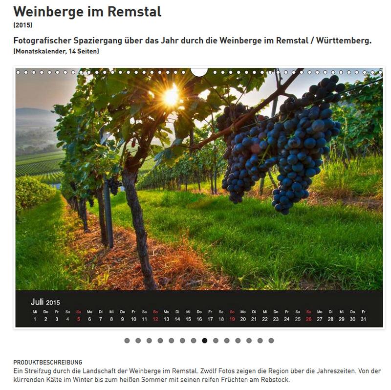 Kalender Weinberge im Remstal