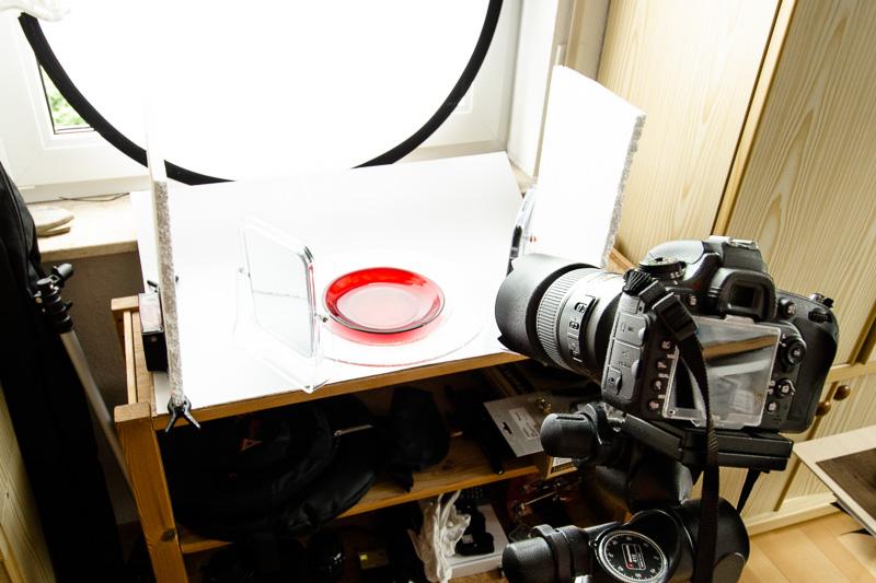 Verbessertes Setup mit Tageslicht für die Foodfotografie