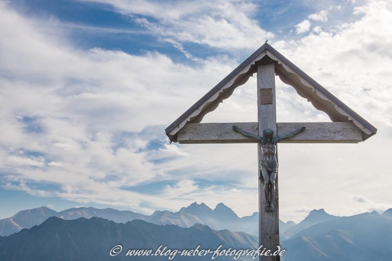 Marterl an der Bergstation Schlappoldsee