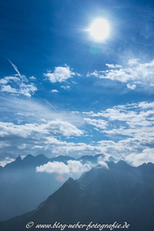 Blick vom Fellhorn auf die Allgäuer Gipfel