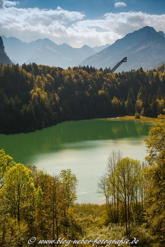Skiflugschanze am Freibergsee