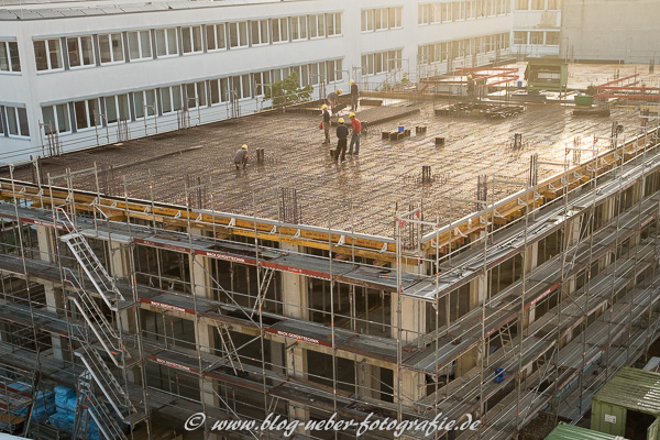 Blick auf das zukünftige Bürogebäude
