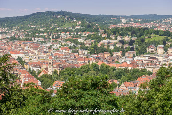 View from Weissenburgpark on the city of Stuttgart