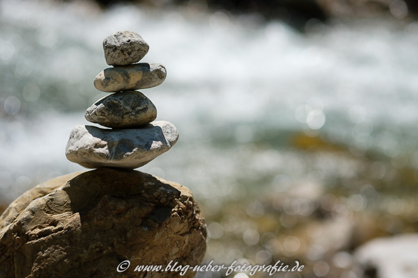 Steinmännchen an der Trettach