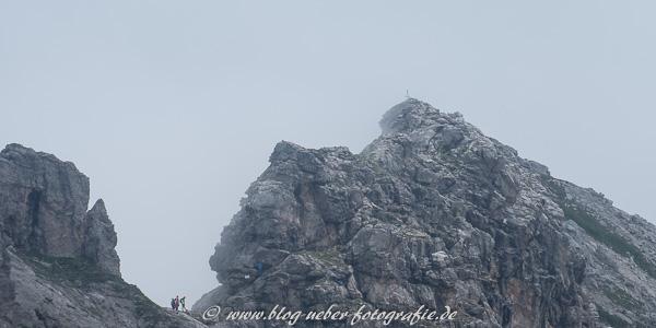Blick vom Nebelhorn auf den Hindelanger Klettersteig