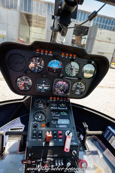 Instrumente im Helikopter