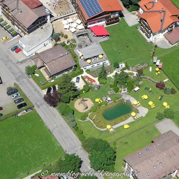 Naturbad und Garten vom Parkhotel Frank