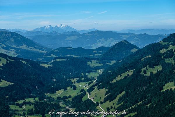Bregenzer Wald mit dem Säntis im Hintergrund