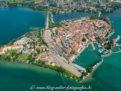 Lindau Hintere Insel mit Hauptbahnhof, Hafen und Yachthafen
